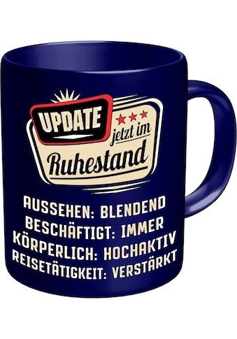 Rahmenlos Kaffeetasse mit lustigem Rentner-Spruch im Geschenkkarton kaufen