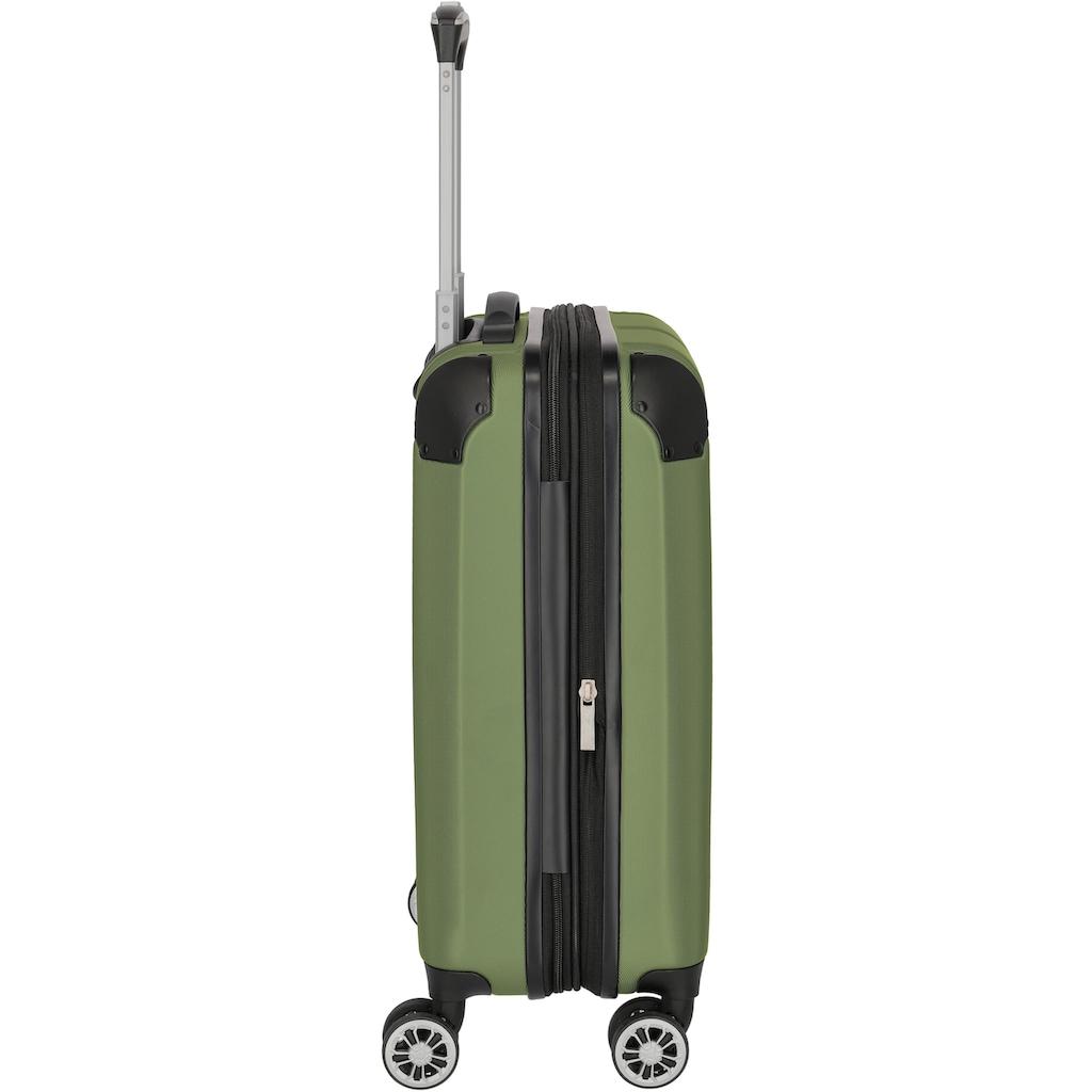 travelite Trolleyset »City, grün«, (3 tlg.)