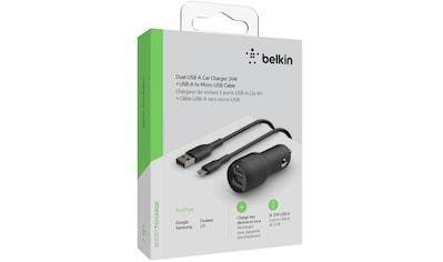 Belkin USB-Ladegerät »Dual USB-A Kfz-Ladegerät Micro-USB Kabel 1m 24W« kaufen