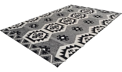 calo-deluxe Teppich »Kibo 1001«, rechteckig, 10 mm Höhe, Hoch-Tief-Struktur, Wohnzimmer kaufen