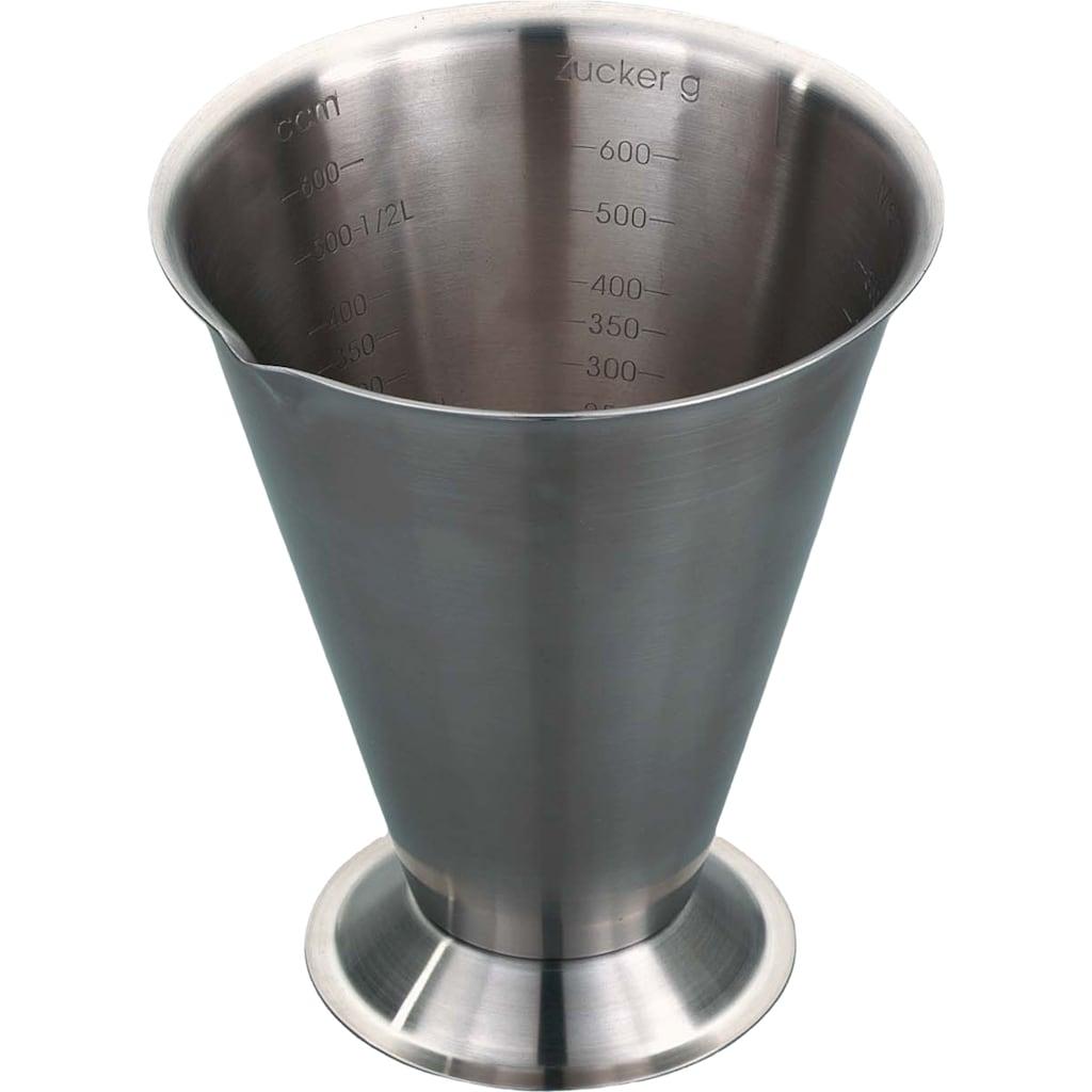 GSD HAUSHALTSGERÄTE Messbecher, Edelstahl, 750 ml