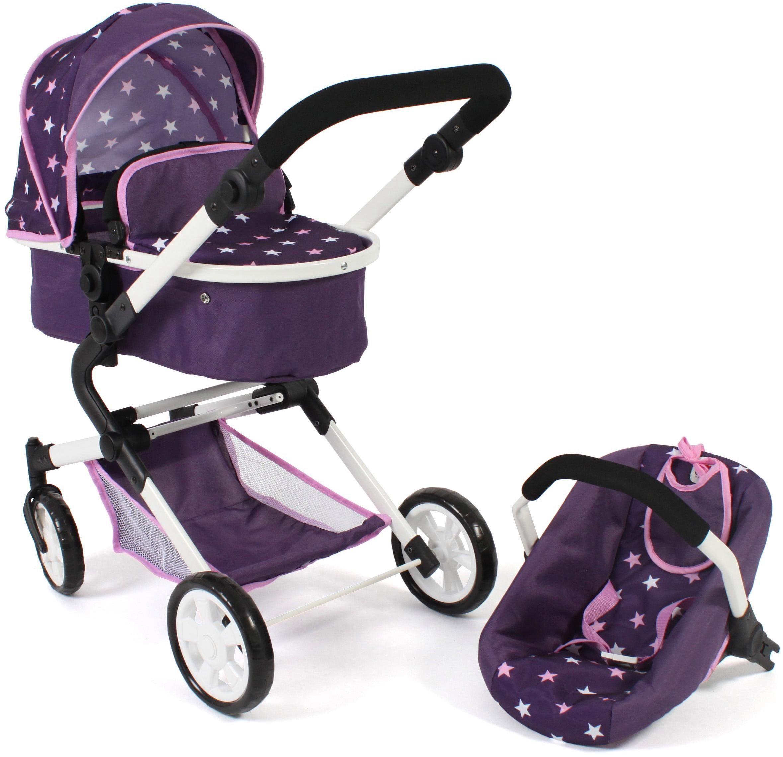 CHIC2000 Kombi-Puppenwagen Lia, Stars lila, mit Puppen-Autositz lila Kinder Puppenzubehör Puppen