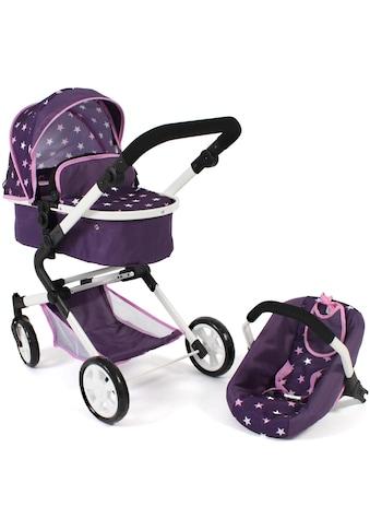 CHIC2000 Kombi-Puppenwagen »Lia, Stars lila«, mit Puppen-Autositz kaufen