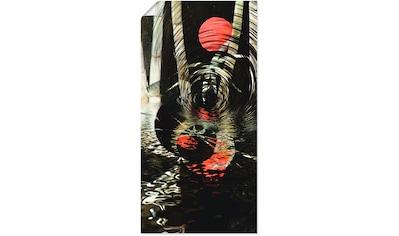 Artland Wandbild »Roter Mond im Bambus«, Landschaften, (1 St.), in vielen Größen &... kaufen
