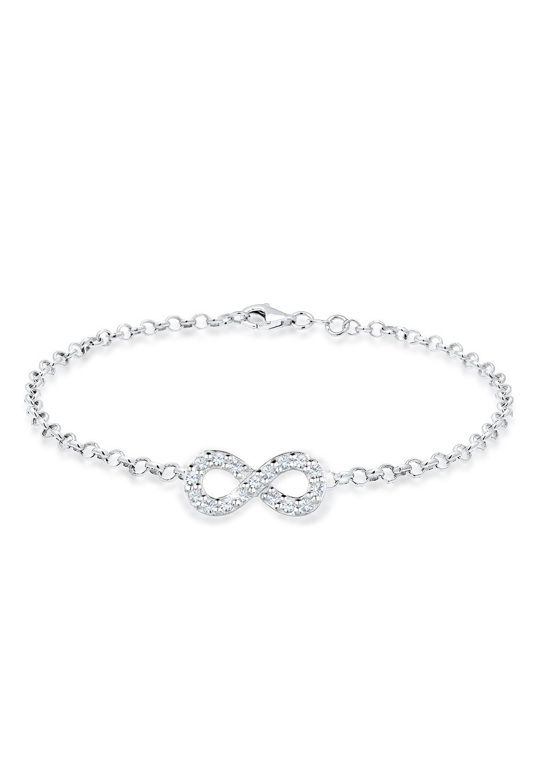 Elli Bettelarmband Infinity Swarovski Kristalle 925 Silber Unita   Schmuck > Armbänder > Bettelarmbänder   Elli