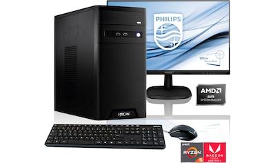 "Hyrican Gaming-PC-Komplettsystem »PC Ryzen 5 3400G 16GB RAM 1TB SSD + 68 cm (27"") TFT« kaufen"