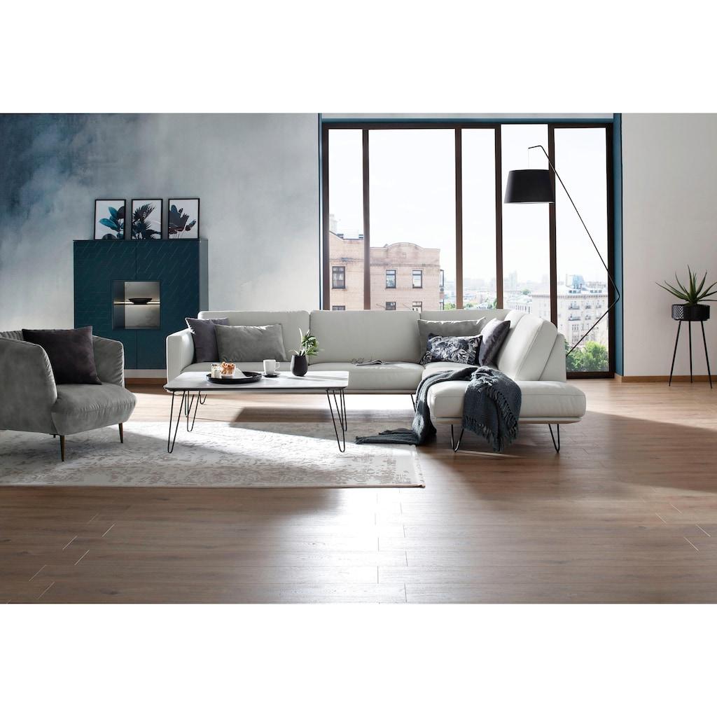 W.SCHILLIG Sessel »Villeroy & Boch ELLA«, Füße Bronze pulverbeschichtet