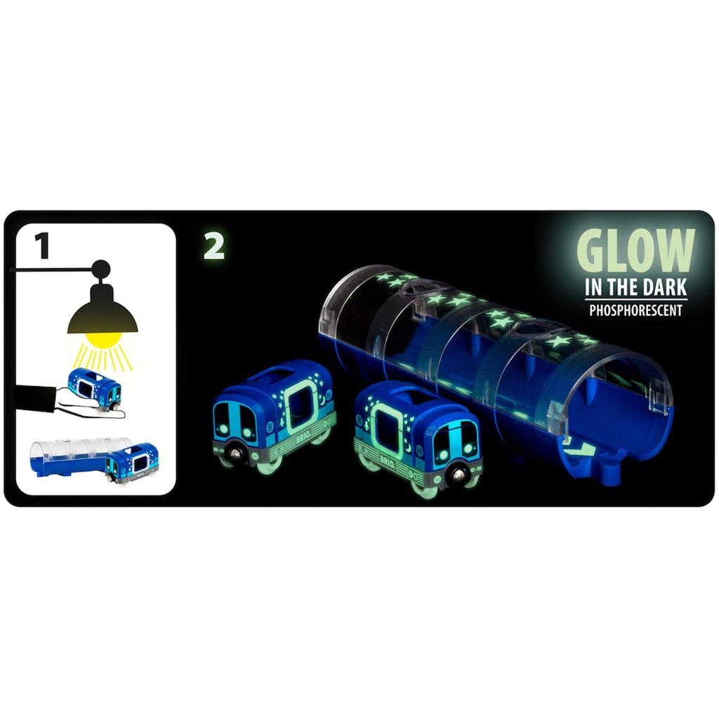 BRIO® Spielzeug-Zug »BRIO® WORLD Tunnelbox U-Bahn«, leuchtet im Dunkeln, FSC®-Holz aus gewissenhaft bewirtschafteten Wäldern