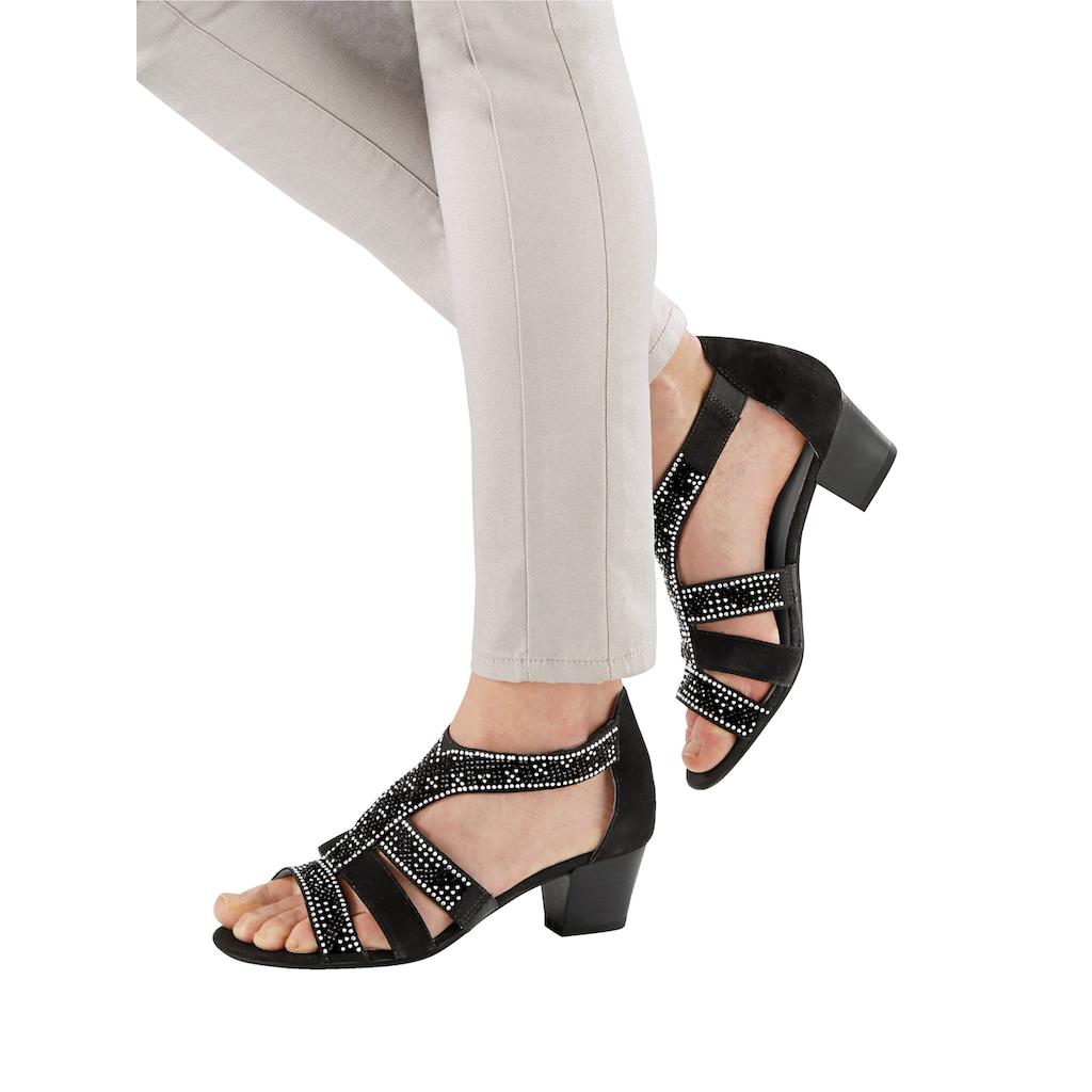 Liva Loop Sandale, mit eleganter Steinchenzier