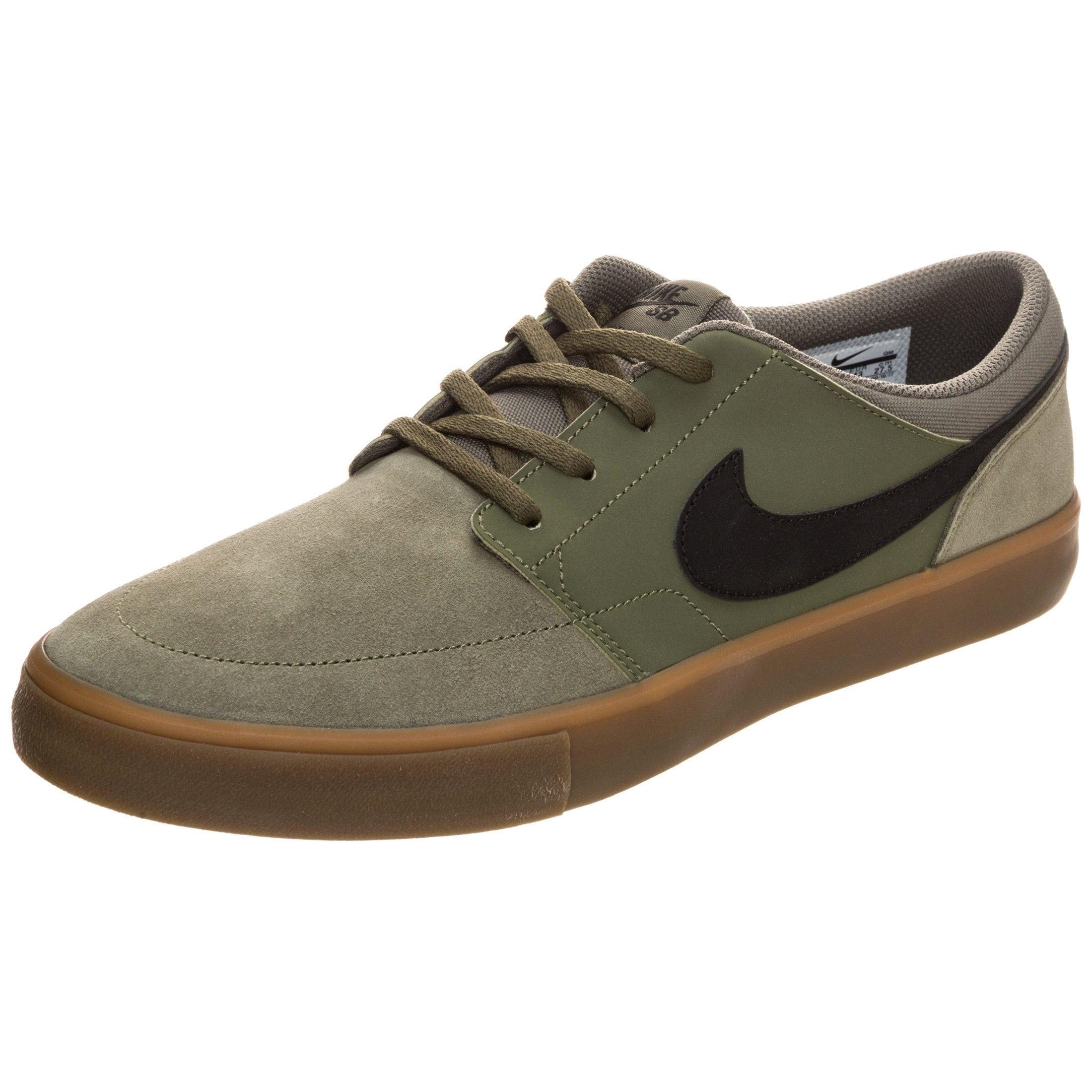 Nike SB Sneaker »Portmore Ii Solarsoft« | Schuhe > Schnürschuhe | Grün | Gummi | NIKE SB