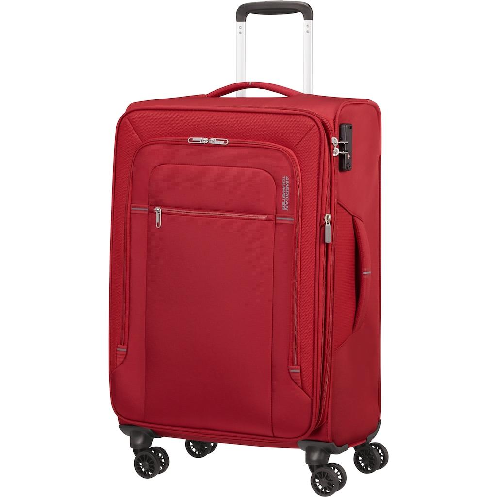 American Tourister® Weichgepäck-Trolley »Crosstrack, 68 cm«, 4 Rollen, mit Volumenerweiterung