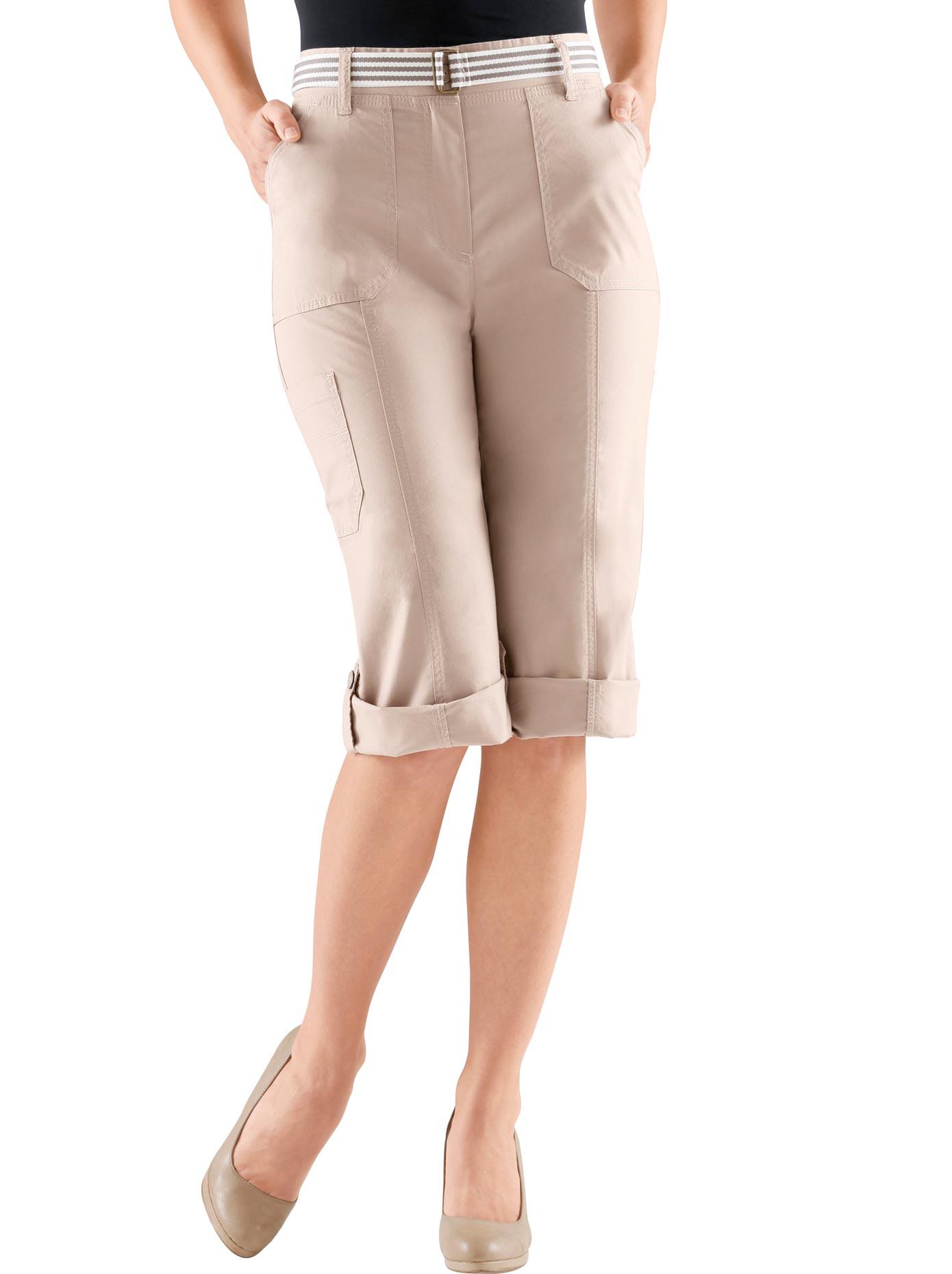 Casual Looks Capri-Hose mit figurfreundlicher Teilungsnaht vorne | Bekleidung > Hosen > Caprihosen | Braun | Casual Looks