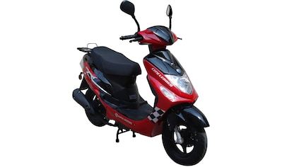Alpha Motors Motorroller »Cityleader«, 2,5 PS, 50 ccm, 45 km/h, rot inkl. Topcase kaufen