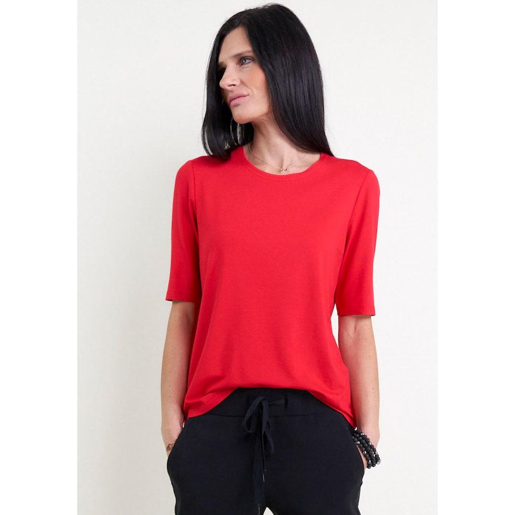 Seidel Moden Rundhalsshirt, Basic-Style, mit Halbarm, Made in Germany