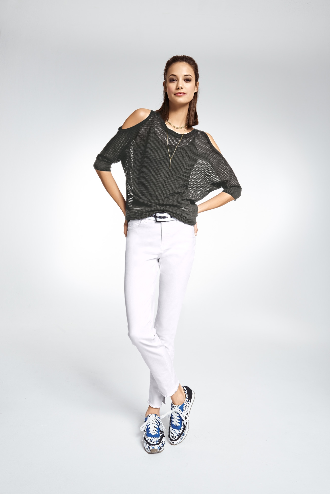 heine STYLE Longpullover mit cut outs   Bekleidung > Pullover > Longpullover   Grün   heine