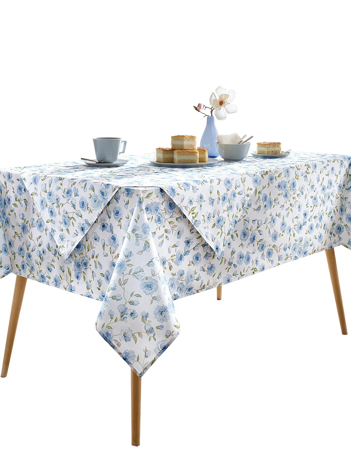 Tischdecke blau Tischdecken Tischwäsche