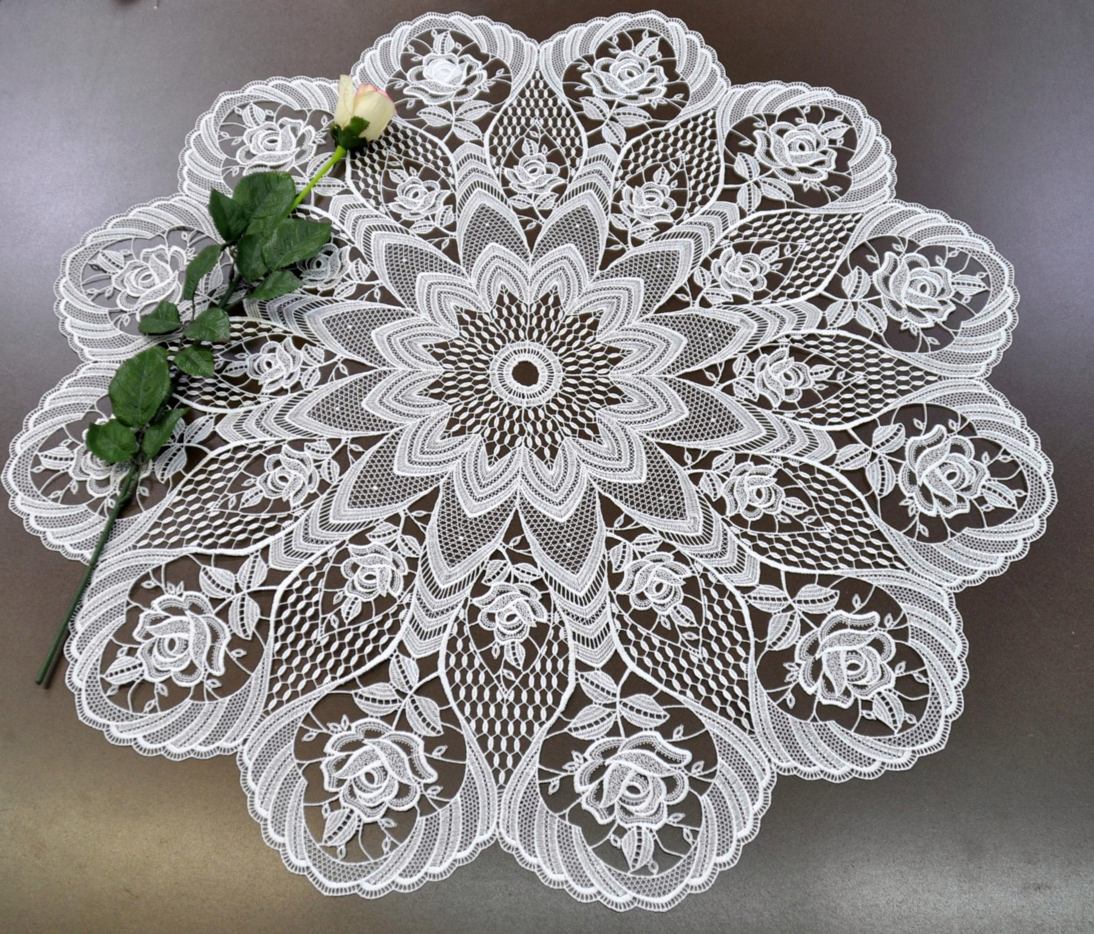 Tischdecke Rosentraum Stickereien Plauen