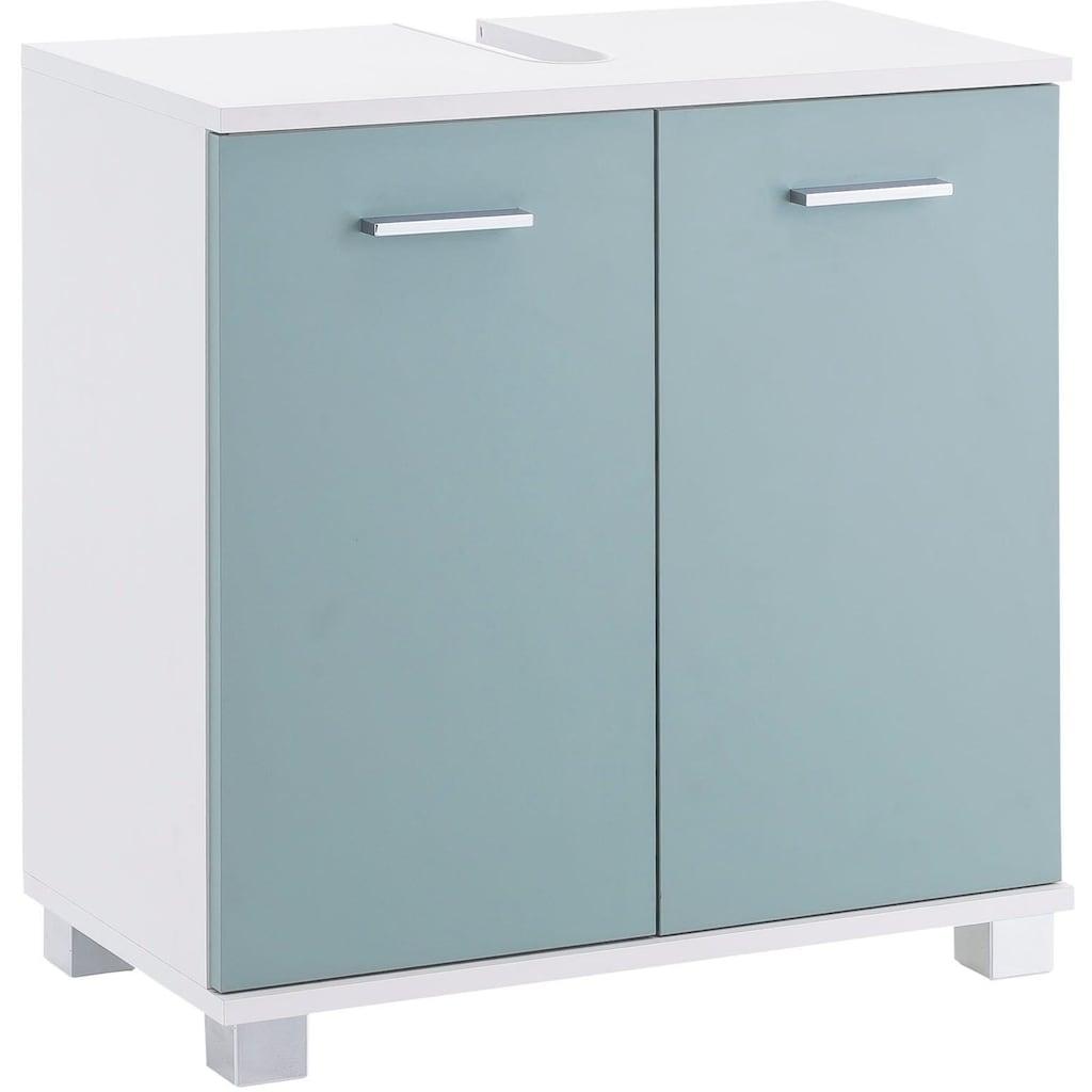 Schildmeyer Waschbeckenunterschrank »Lumo«, Breite 60 cm, mit 2 Türen & Metallgriffen