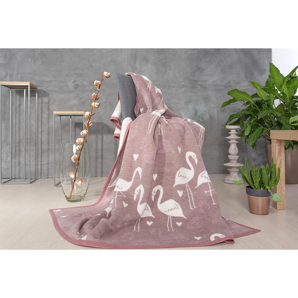 SEI Design Wohndecke »Flamingo«, mit Flamingos