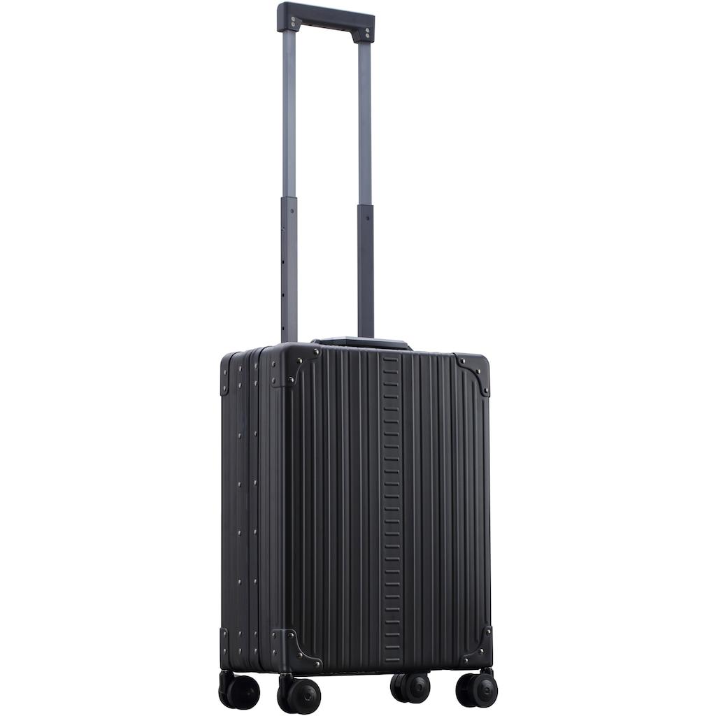 ALEON Hartschalen-Trolley »Aluminiumkoffer Vertical Business Carry-On, 55 cm«, 4 Rollen, inkl. Kabeltasche, Packwürfel und Schutzhülle