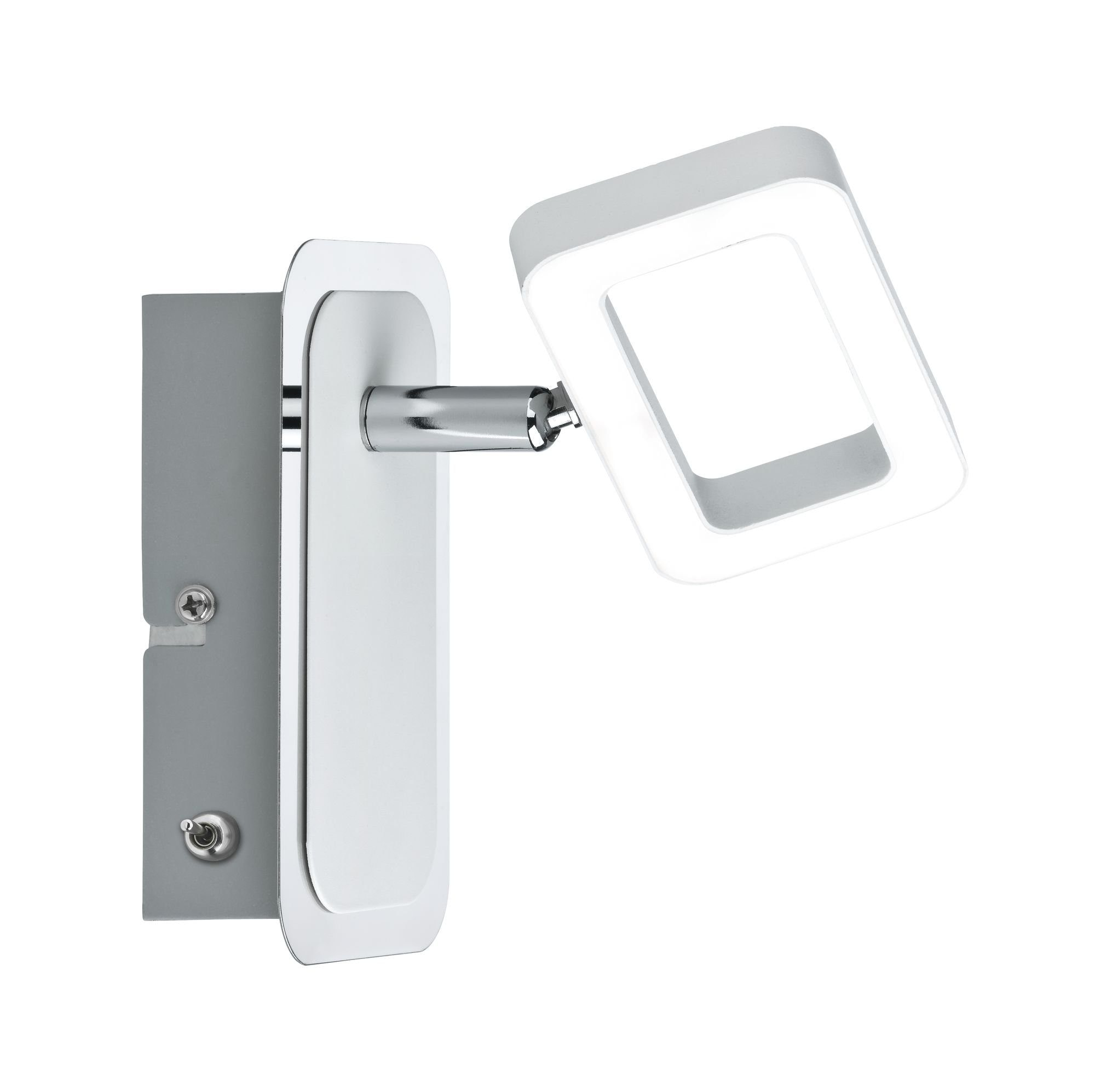 Paulmann LED Wandstrahler Frame Weiß/Chrom 1-flammig inkl. Leuchtmittel 1x4,5W, 1 St., Warmweiß