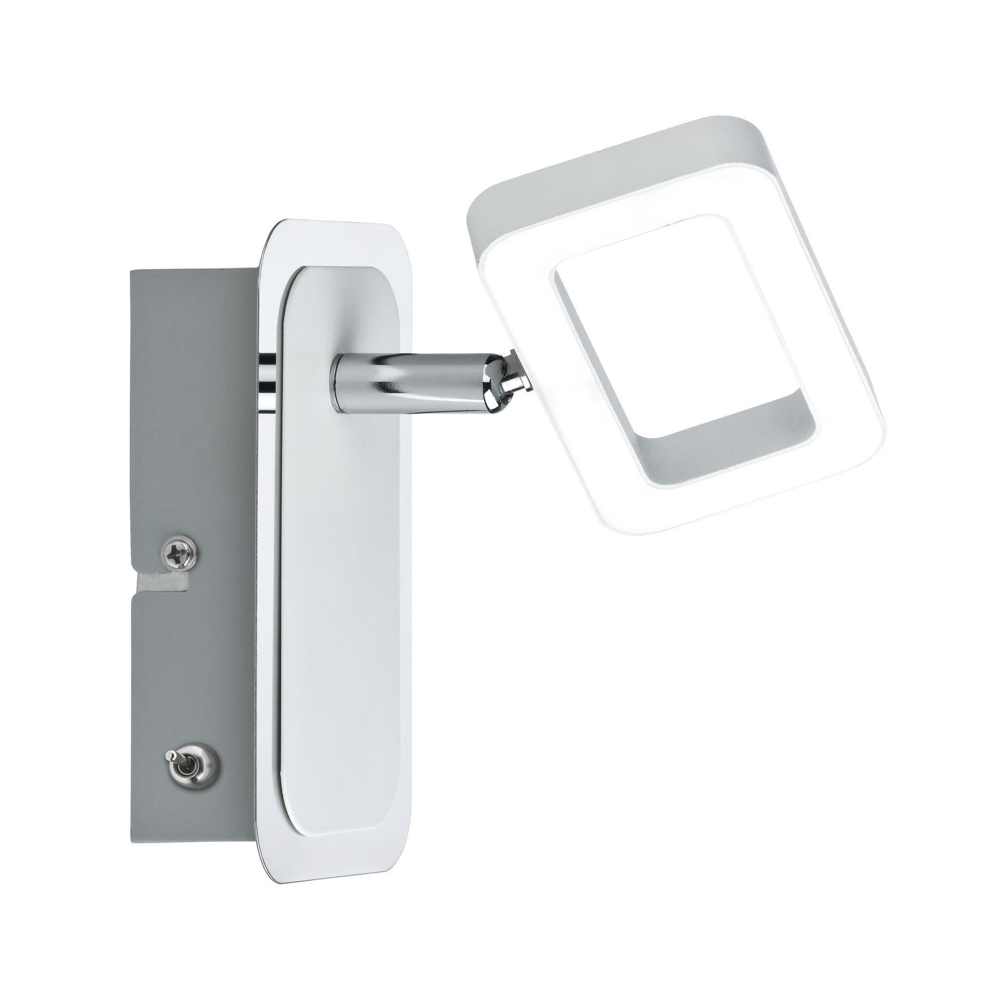 Paulmann,LED Wandstrahler Frame Weiß/Chrom 1-flammig inkl. Leuchtmittel 1x4,5W
