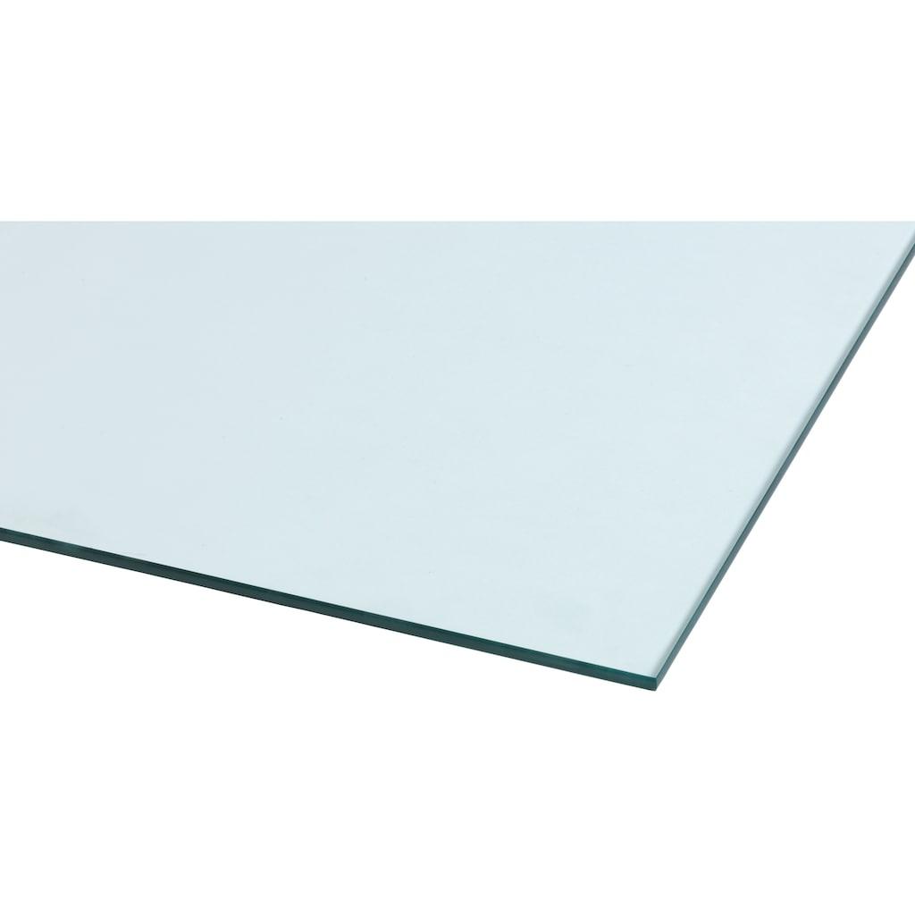 Heathus Bodenschutzplatte, Rechteck, 85 x 100 cm, transparent, zum Funkenschutz