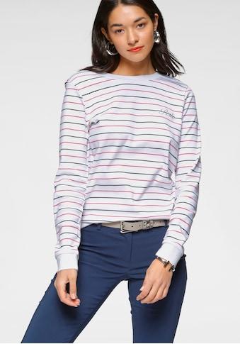 AJC Sweatshirt, im Streifenlook mit Stickerei auf der Brust kaufen