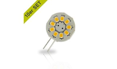 INNOVATE 10er-Set mit warmweißem Licht 9SMD, 1,5W, 120°, Pin seitlich »G4 LED-Leuchtmittel« kaufen