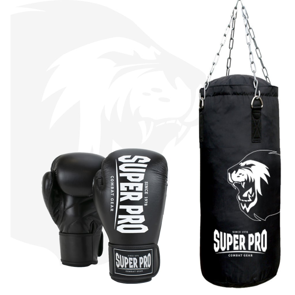 Super Pro Boxsack »Boxing Set Punch«, (Set, mit Boxhandschuhen)