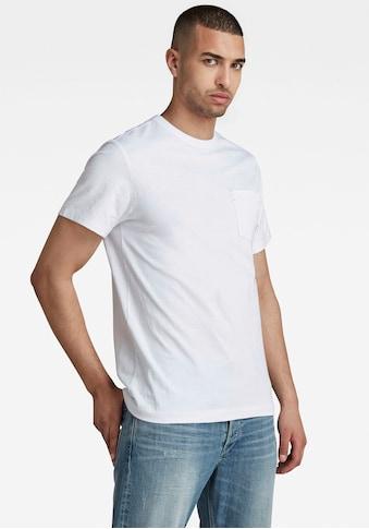 G-Star RAW Rundhalsshirt »Contrast Mercerized Pocket« kaufen