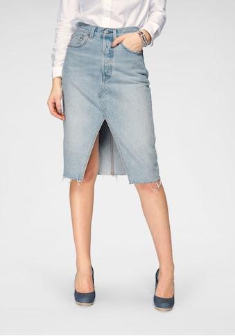 Levi's® Jeansrock »Deconstructed Midi Skirt«, mit Schlitz vorne kaufen