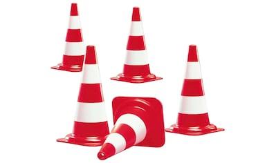 Pylone, Kunststoff, rot, (5 St.), Kegel in Farbe rot mit 2 weißen Streifen kaufen
