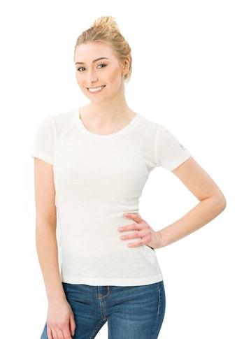 SUPER.NATURAL T-Shirt »W Scarlett Rib Ss 165«, angenehmer Merino-Materialmix kaufen