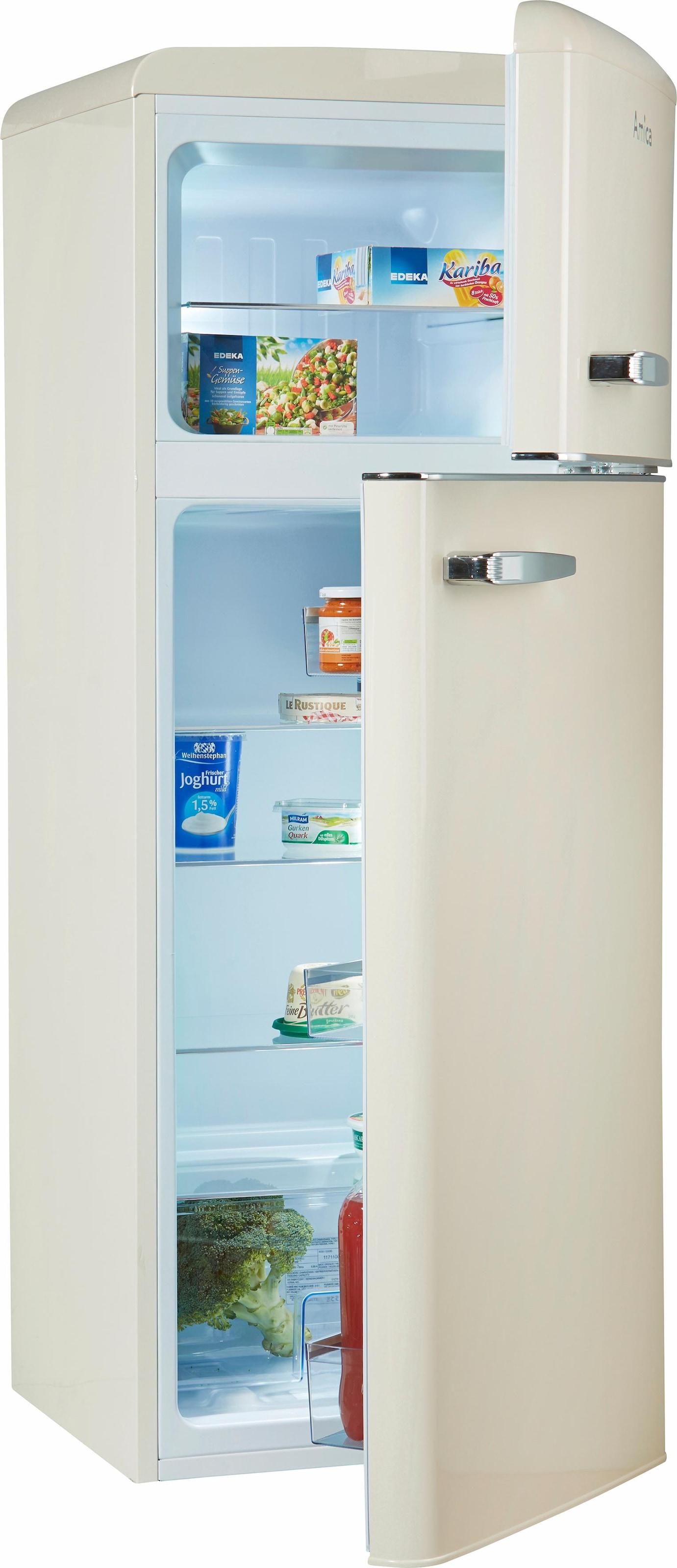 Amica Retro Kühlschrank Creme : Amica kühl gefrierkombination kgc b cm hoch kaufen baur