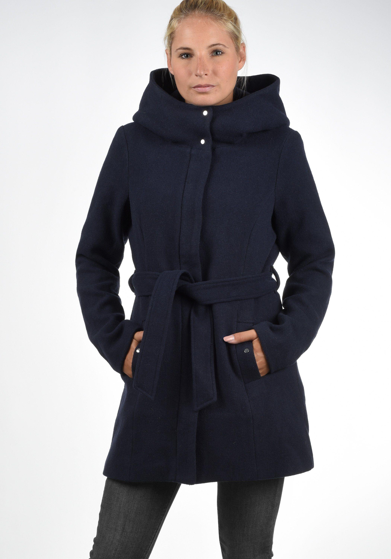 vero moda -  Wollmantel Wollni, (mit abnehmbarem Gürtel), Mantel mit großer Kapuze