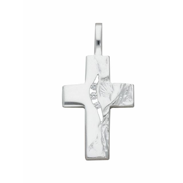Anhänger Kreuz 925 Silber matt Kreuzanhänger Silberkreuz mit Kette 50 cm Kettena