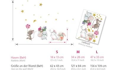 little DECO Wandtattoo »Little Deco Wandtattoo Hasenfamilie und Maus mit Lolli« kaufen