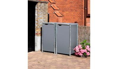 Hide Mülltonnenbox, für 2 x 120 l, grau kaufen