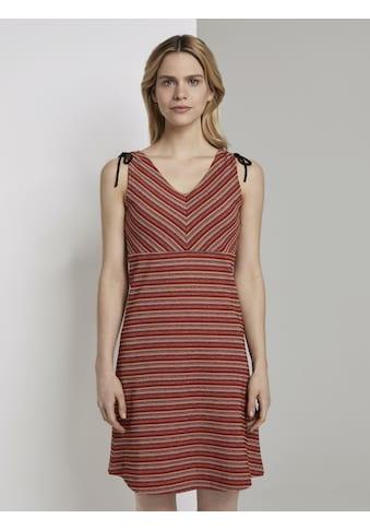 TOM TAILOR Sweatkleid »Gemustertes Kleid mit Schulter - Detail« kaufen