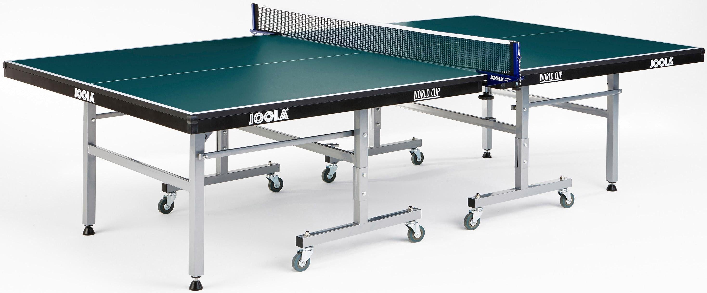Joola, Tischtennisplatte, JOOLA Indoor-Tischtennisplatte World Cup grün Tischtennisplatten Spieltische Sportausrüstung Accessoires