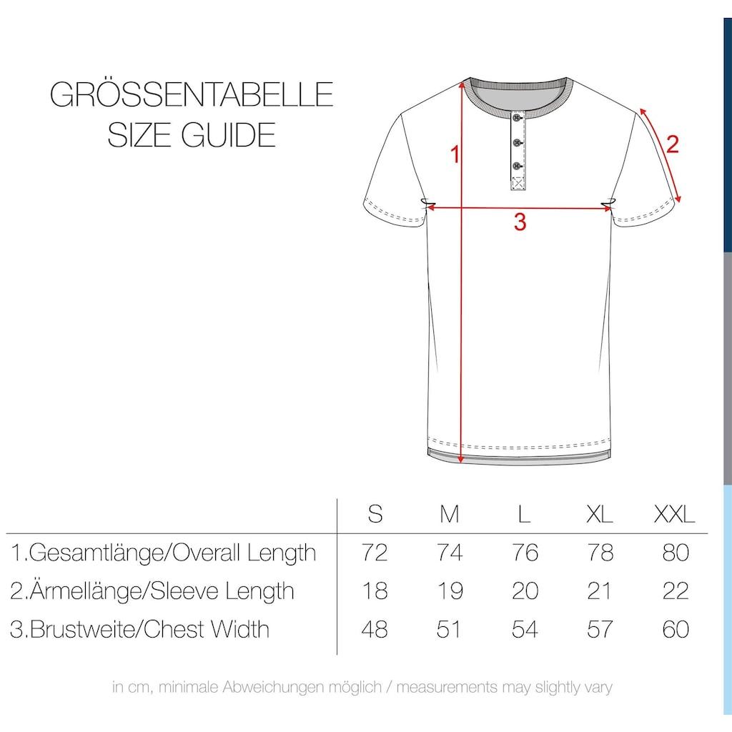 Solid Rundhalsshirt »Espon«, Kurzarmshirt mit Knopfleiste