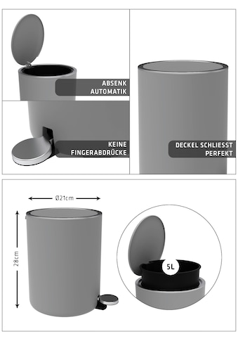 Bischof Kosmetikeimer »Design Bad«, Ø 21 cm, Höhe 28 cm, Fassungsvermögen 5,5 l kaufen
