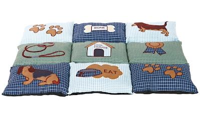 HEIM Hunde - Decke »Patchwork«, BxL: 55x80 cm, gesteppt, grün kaufen