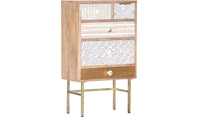 Gutmann Factory Kommode »Linea«, mit detailreichen Verzierungen, Shabby Chic, Vintage kaufen