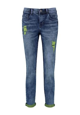Taifun Boyfriend - Jeans »Boyfriend Jeans mit farbigen Details« kaufen