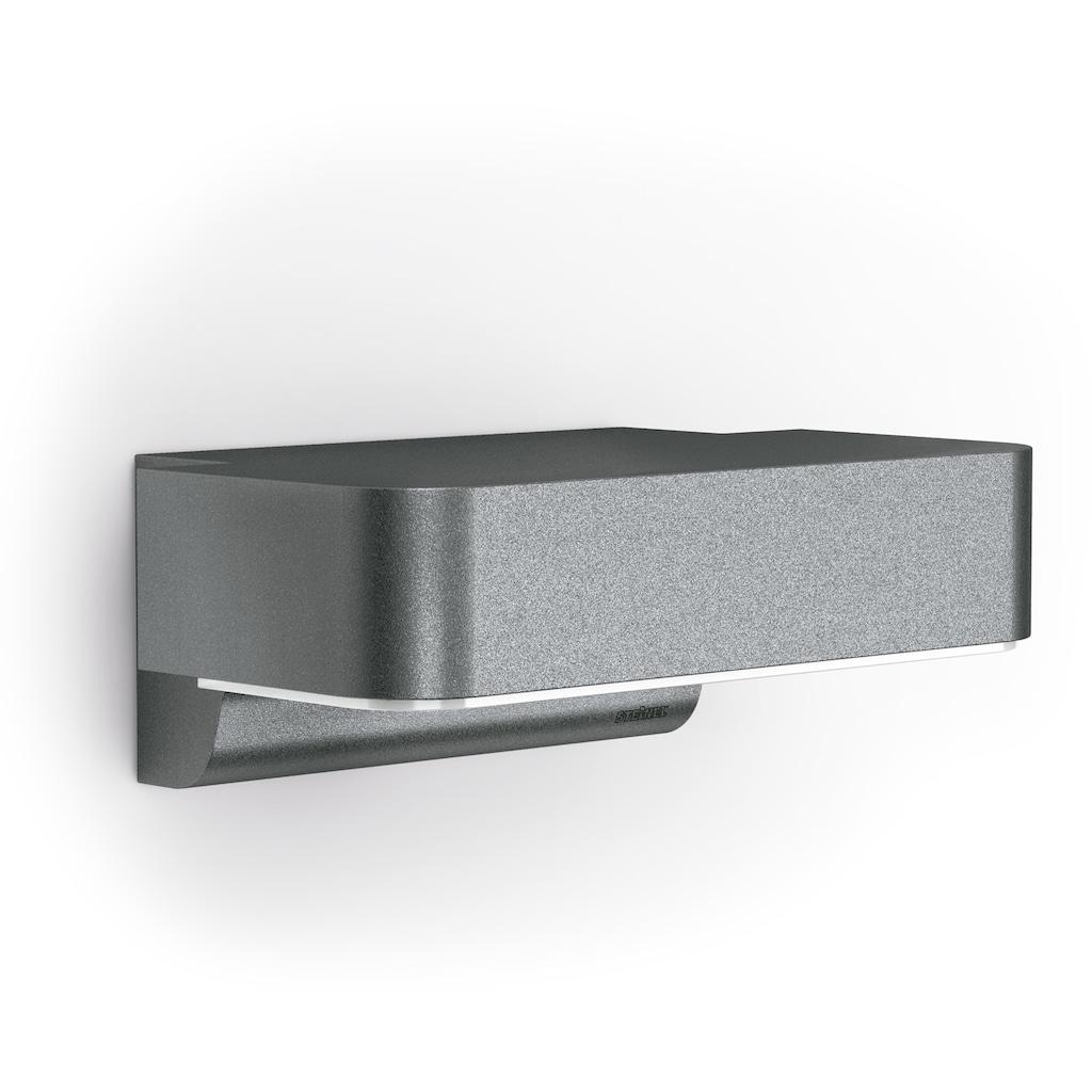 steinel Außen-Wandleuchte »L 800 LED iHF«, LED-Board, 1 St., Warmweiß, 160° Erfassungsbereich, max. 5 m Reichweite, Zeiteinstellung von 5 Sek. - 15 Min., Grundlichtfunktion, 4h Dauerlicht, Softlichtstart, regenwassergeschützt, mit integriertem Bewegungsmelder