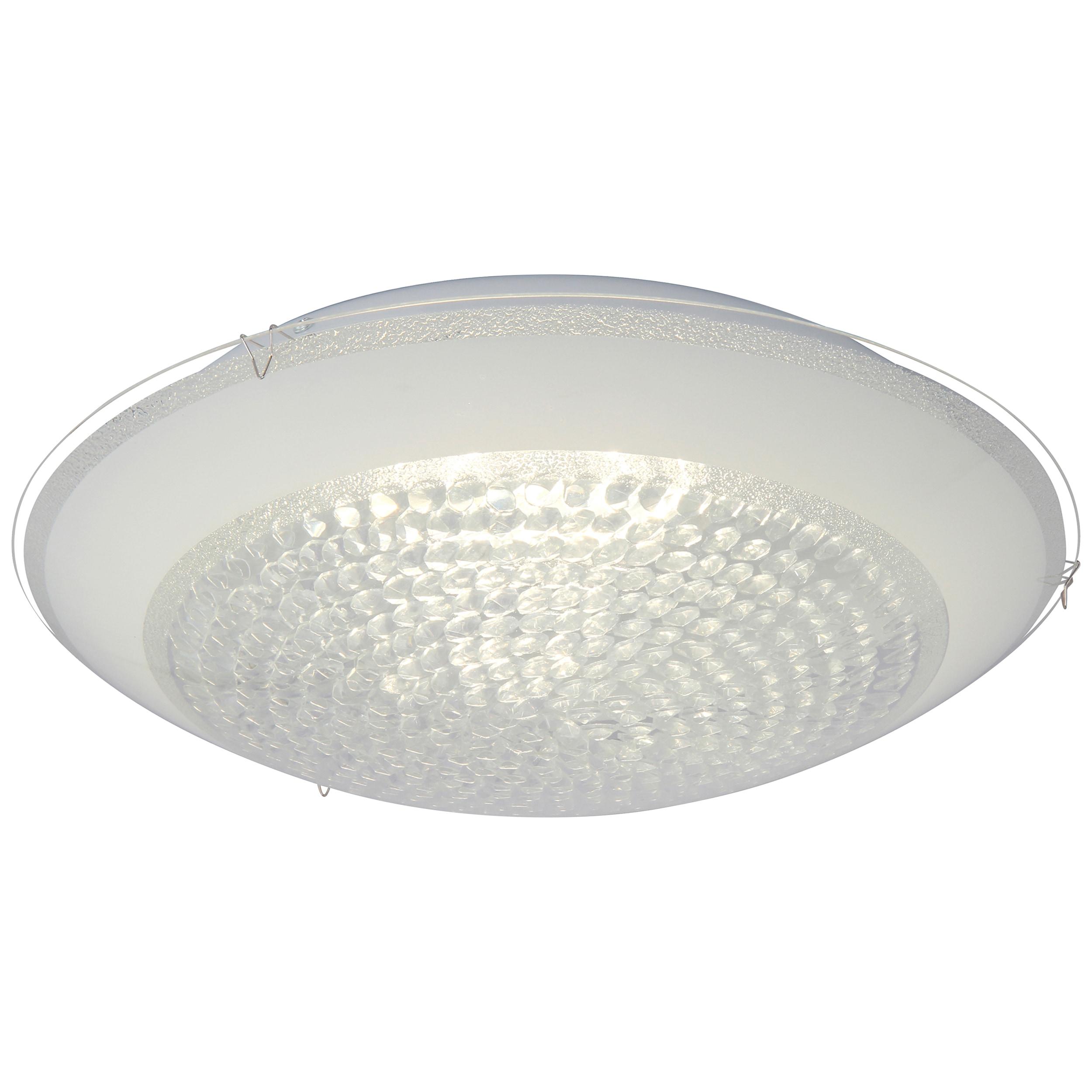 Brilliant Leuchten Vera LED Wand- und Deckenleuchte 40cm weiß/transparent
