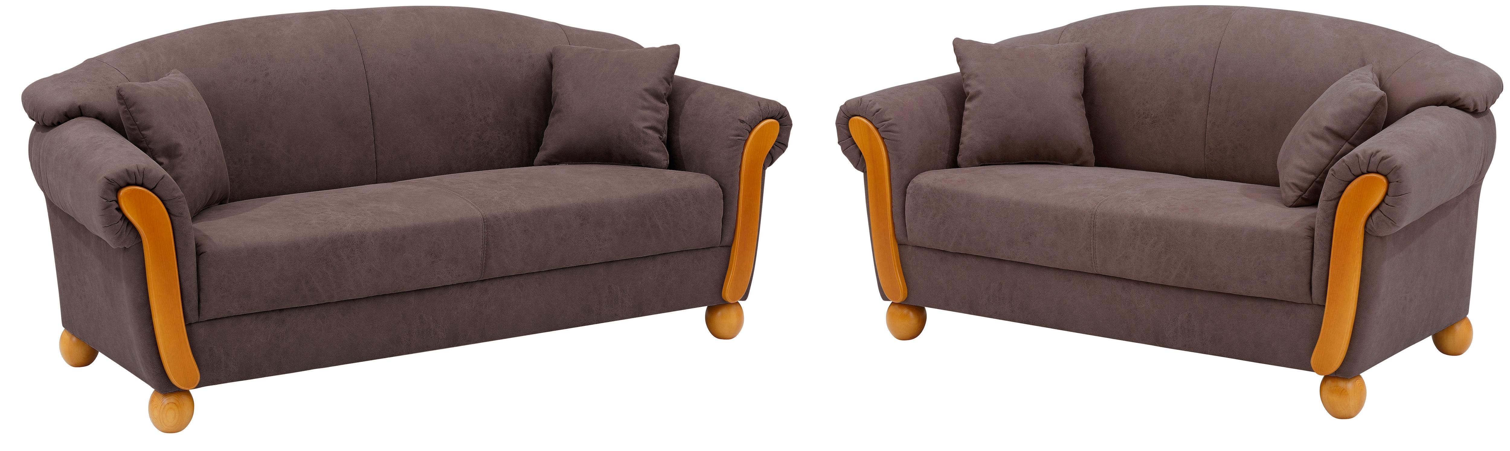 Home affaire 3-Sitzer Milano (Set 2 Teile Set bestehend aus 2-Sitzer und 3-Sitzer)