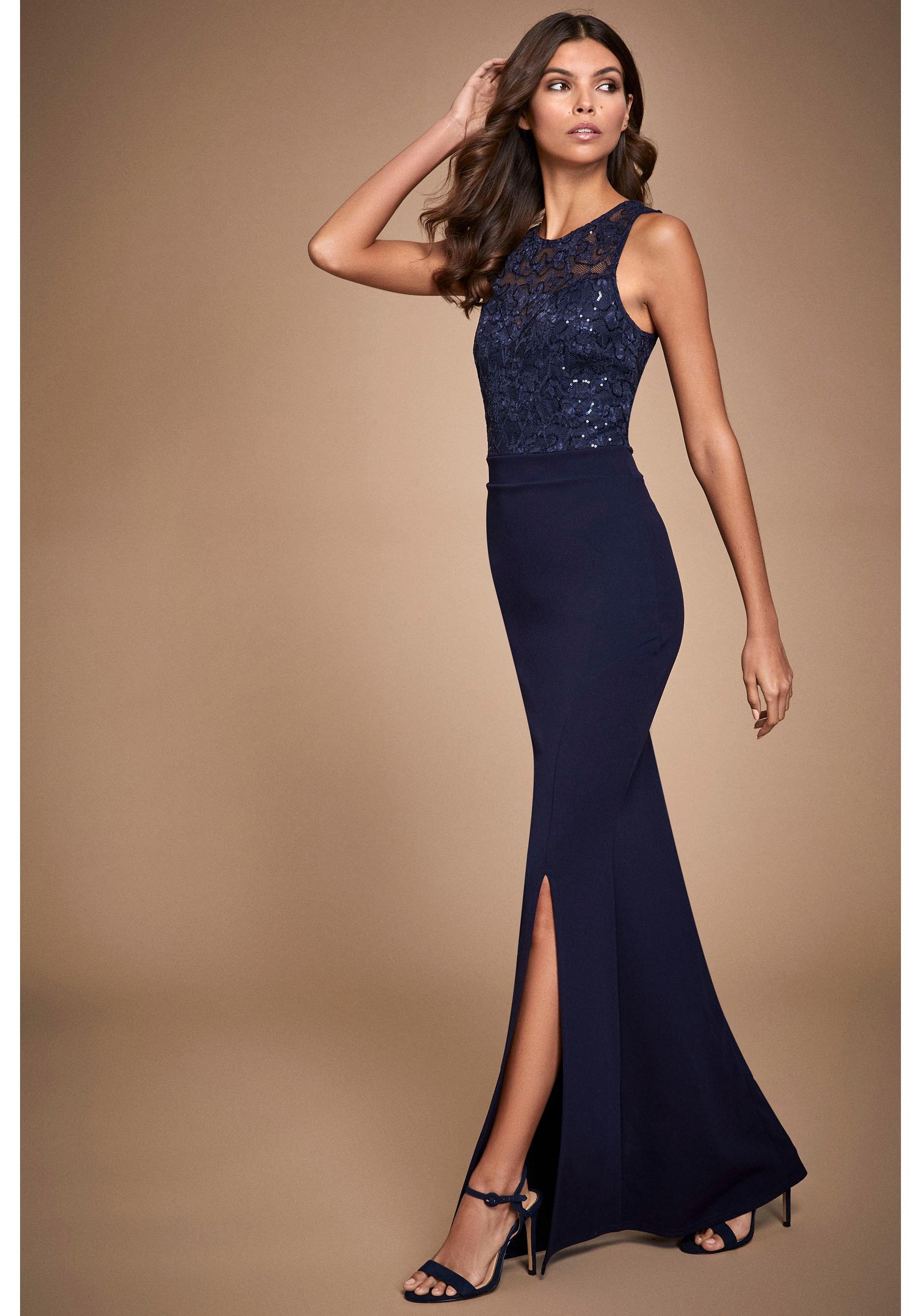 LIPSY Abendkleid blau Damen Abendkleider Kleider